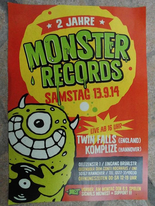 Komplize bei Monster Records 2014